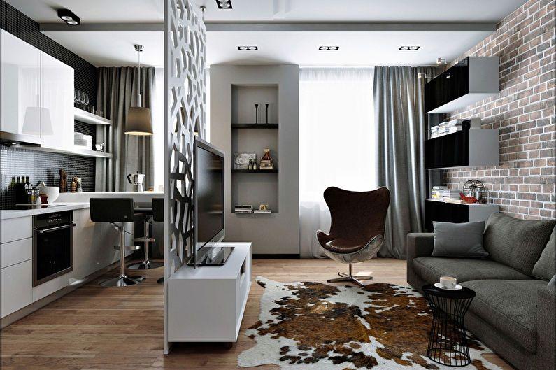 дизайн квартир студий 16