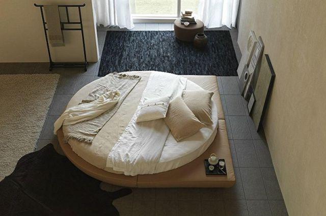 Yatak odasında yuvarlak yatak çeşitleri - Yuvarlak yatak