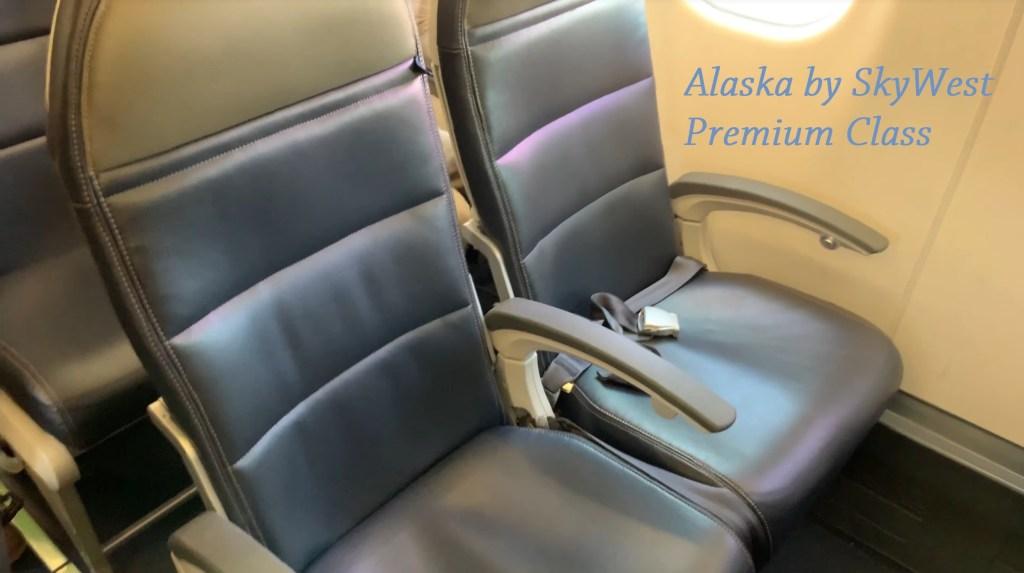 Alaska Airlines Premium Class seat