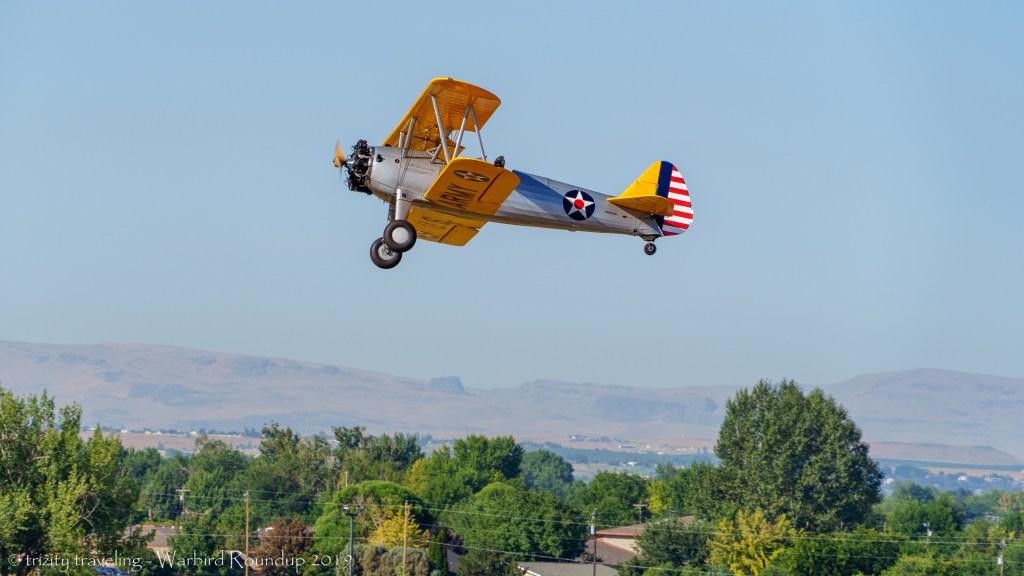 boeing A75L3 trainer warbird roundup 2019 warhawk air museum