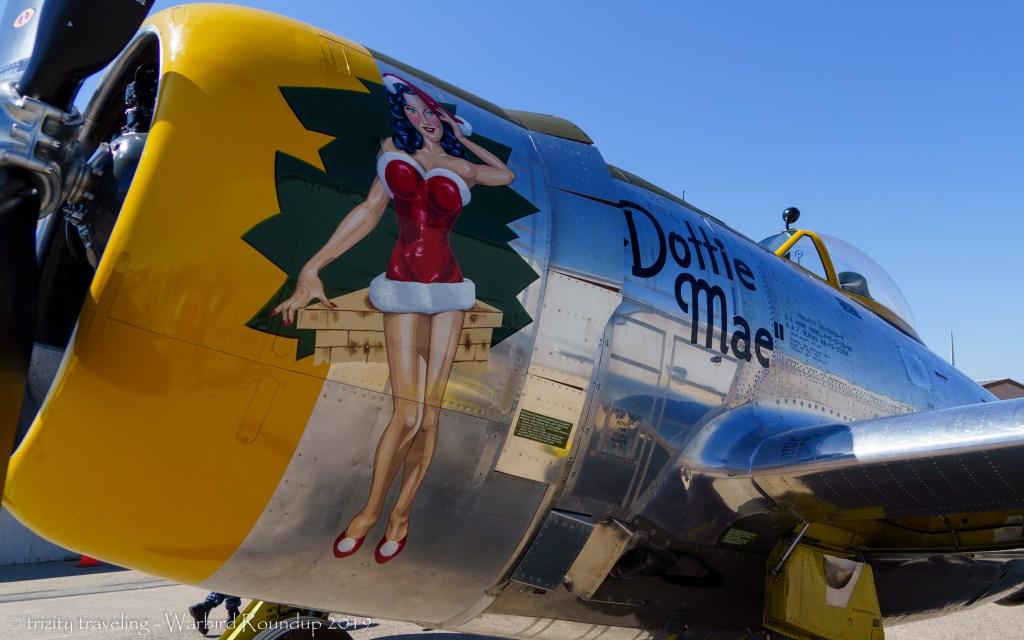 p-47 thunderbolt dottie may art warbird roundup 2019 warhawk air museum