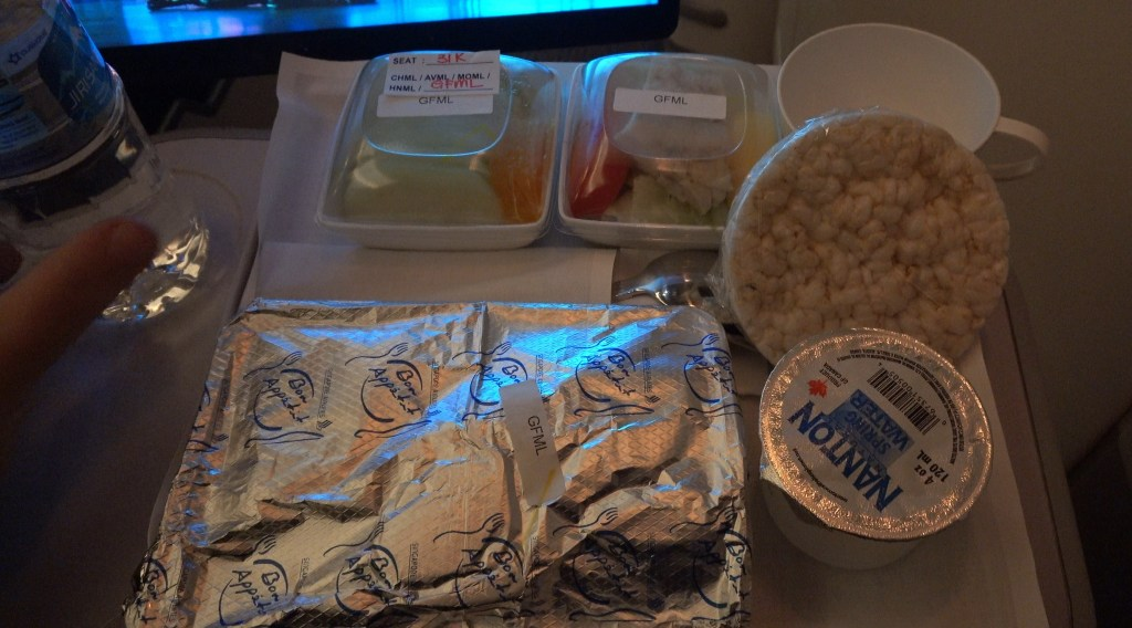 singapore airlines premium economy airbus a350 gluten free meal fish