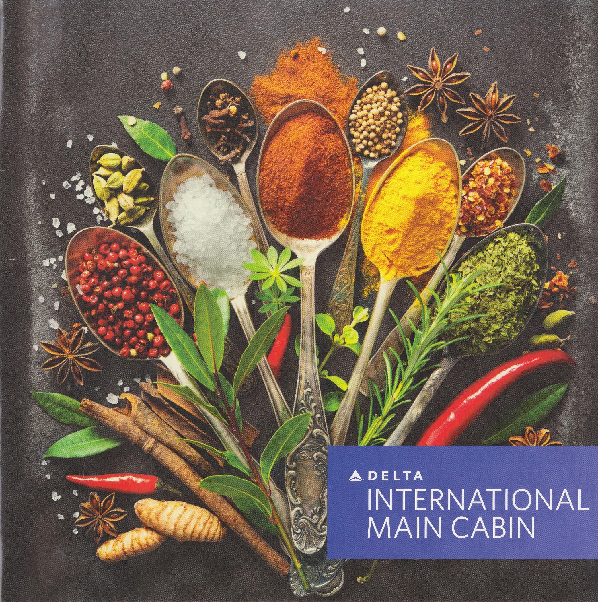delta airlines international main cabin menu