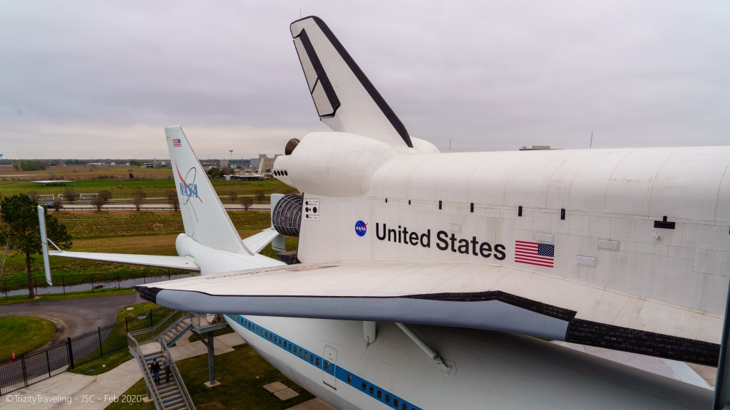 space shuttle independence mounted to the boeing 747 transport aircraft