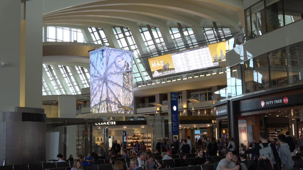 after TSA inside the tom bradley international terminal