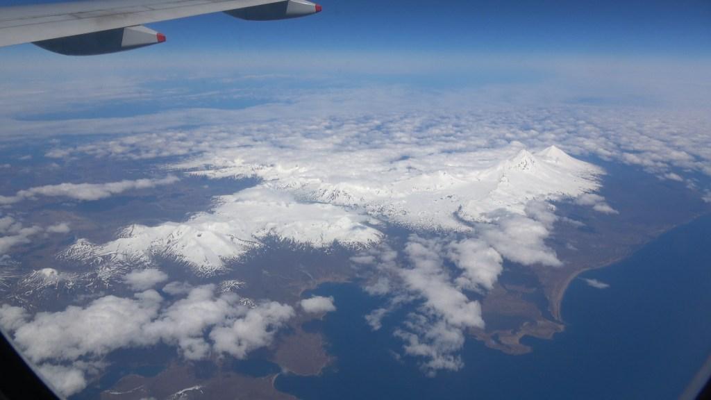 over the Aleutian islands near cold bay Alaska