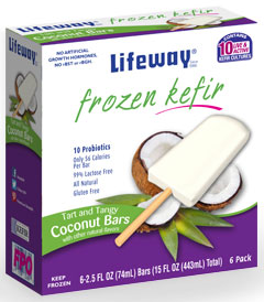 Frozen Kefir   Tart and Tangy Coconut 15 oz   6 pack