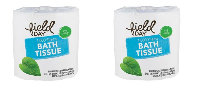 Home Care Spotlight: Field Day 100% Recycled 1-Ply 1,000 Sheets Bath Tissue, Single Roll