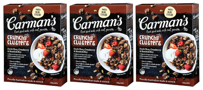 Food Spotlight: Carman's Dark Choc Cranberry Crunchy Clusters