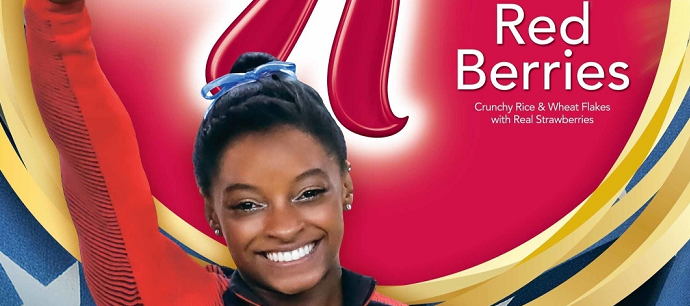 Industry News: Simone Biles To Adorn Gold Medal Edition Boxes Of Kellogg's® Special K® Red Berries