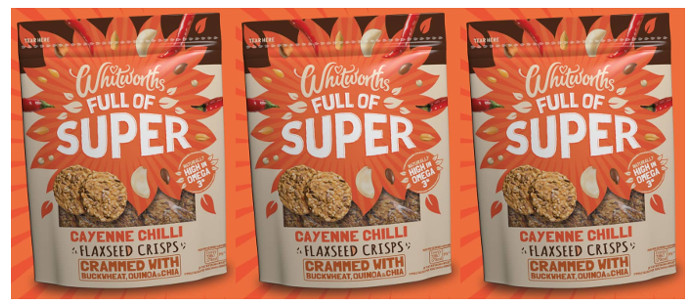 Snack Spotlight: Whitworths Cayenne Chilli Flaxseed Crisps