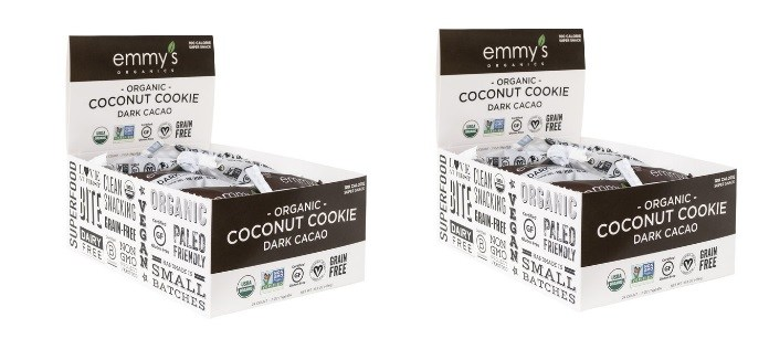 Snack Spotlight: Emmy Organics Dark Cacao Coconut Cookies