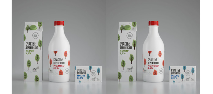 "Packaging Spotlight: Dairy food ""Rustic Happiness"""