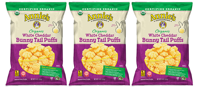 Snack Spotlight: Annie's Homegrown Organic White Cheddar Bunny Tail Puffs