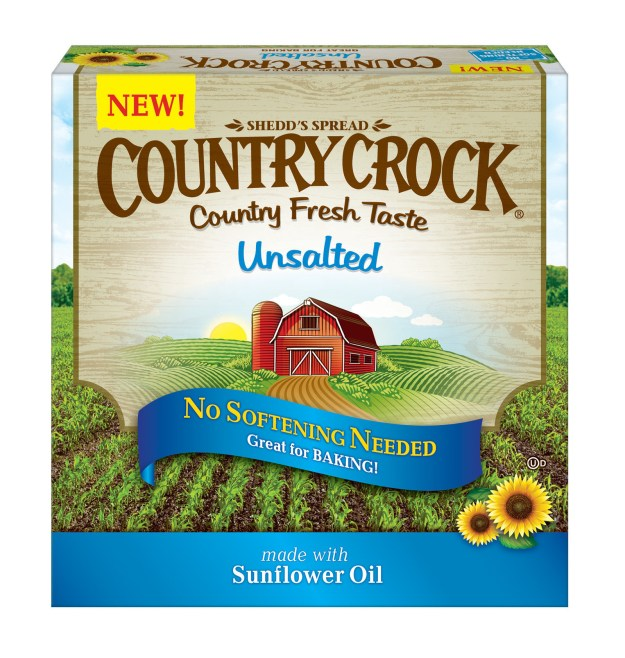 Country Crock® Unsalted Buttery Sticks (PRNewsfoto/Unilever United States, Inc.)
