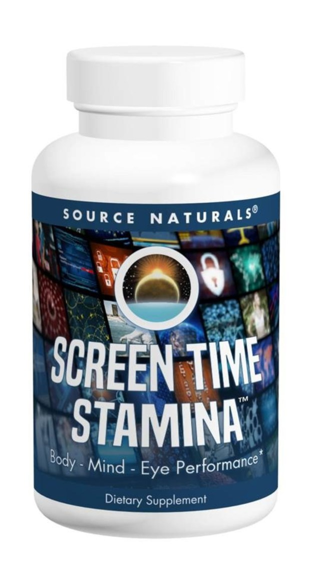 Inspired by a dedicated gamer looking for a healthy alternative to hardcore drink-style stimulants, Screen Time Stamina by Source Naturals is formulated with science-backed ingredients to support the visual, cognitive and body systems impacted by extended screen time. Adaptogenic herbs are included for healthy energy support along with nutrients and herbs for calm mental focus and positive mood, and vitamins and nutrients to support healthy vision. (PRNewsfoto/Source Naturals)