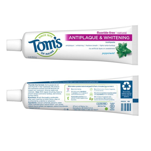 Tom's of Maine Brings First-of-its-Kind Recyclable Toothpaste Tube to the Oral Care Aisle