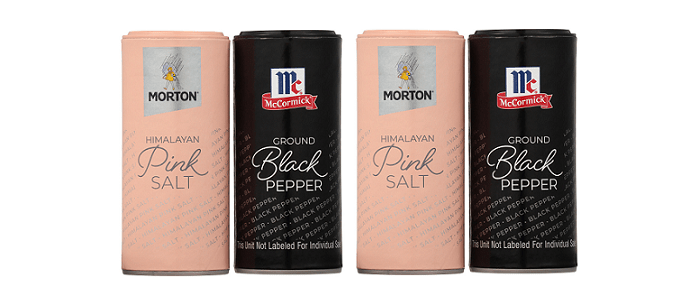 Packaging Spotlight: Morton Salt & McCormick Debut New All-Natural Himalayan Pink Salt & Ground Black Pepper Shakers