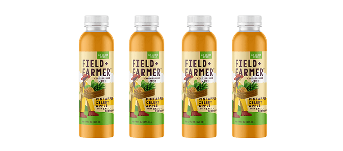Drink Spotlight: Field + Farmer Pineapple Celery Apple with Basil + Turmeric Cold Pressed Juice