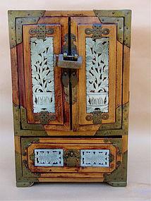 Jade Jewelry Box : jewelry, Antique, Chinese, Rosewood, Jewelry, (item, #1153926)
