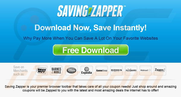 Saving Zapper adware