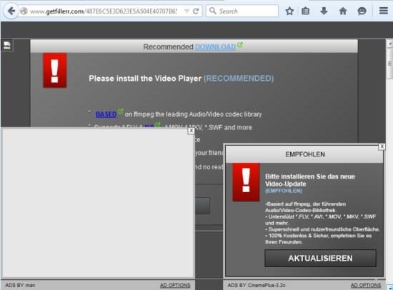 Getfillerr.com pop-up