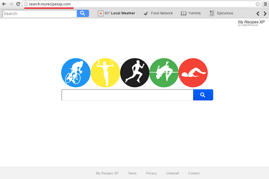 remove Search.myrecipesxp.com