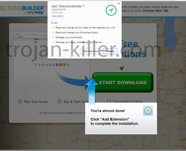 remove DirectionsBuilder virus