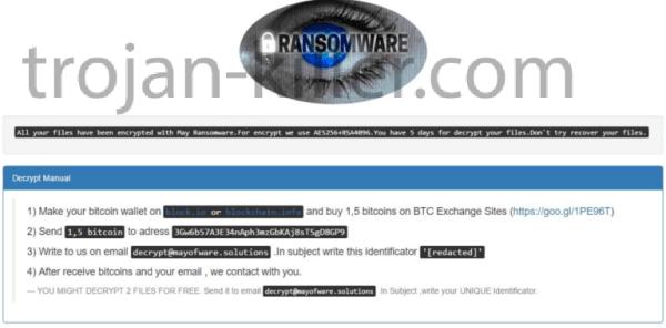 remove May Ransomware virus