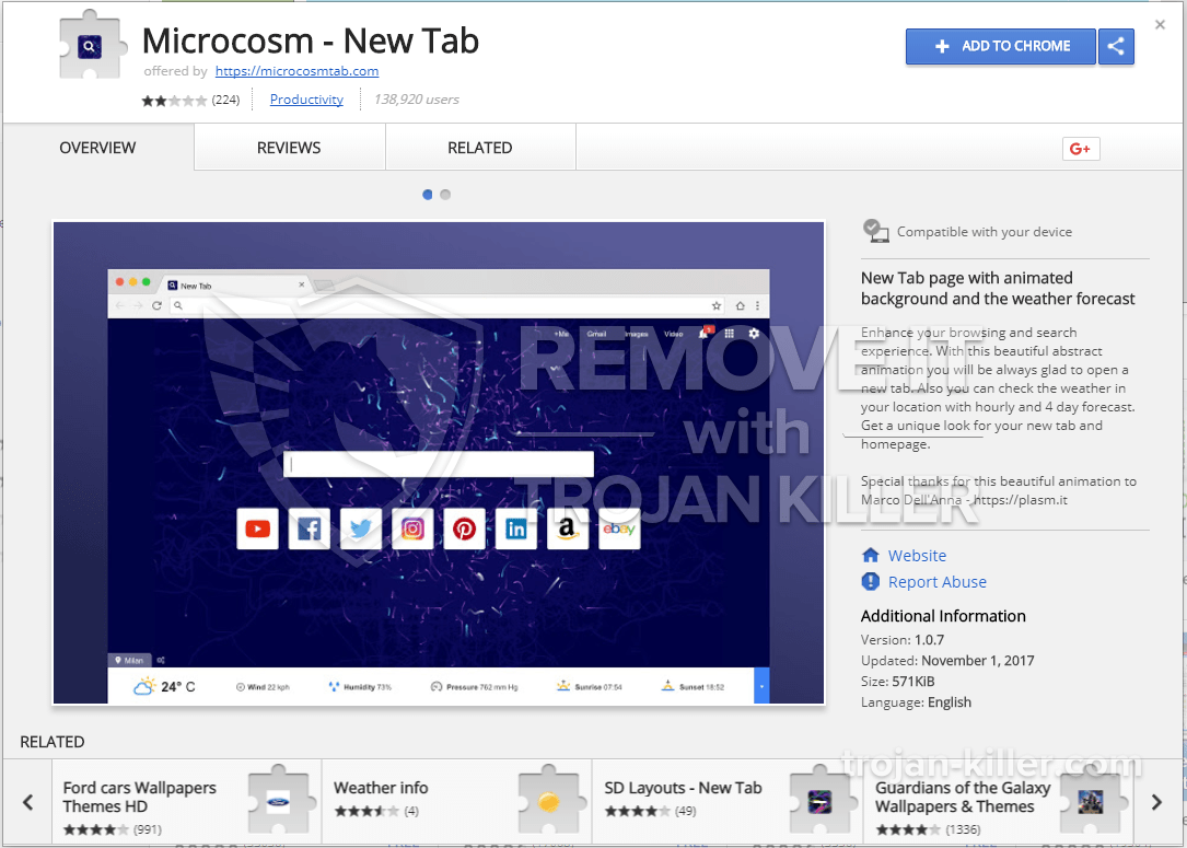 remove Microcosm - New Tab virus