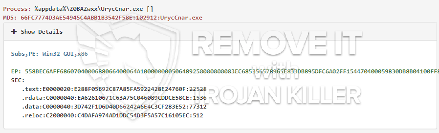remove UrycCnar.exe virus