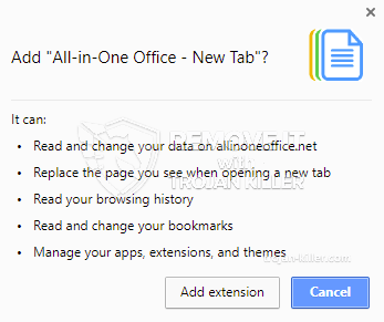 remove All-in-One Office - New Tab virus