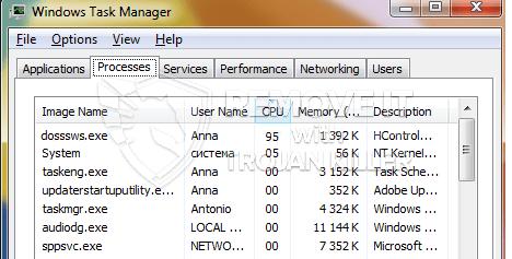 remove dosssws.exe virus