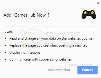 remove GamesHub Now virus