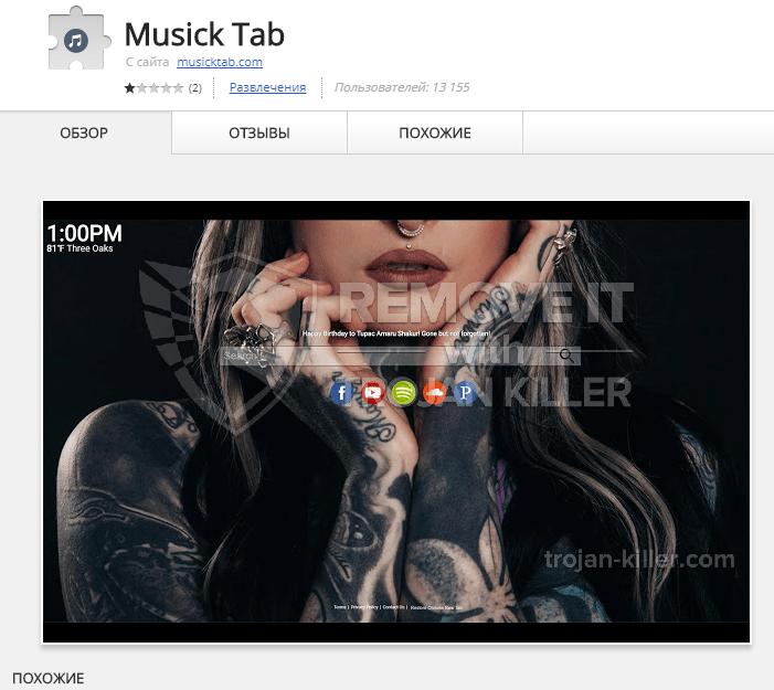 remove musicktab.com virus