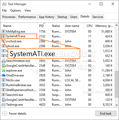 remove SystemATI.exe virus