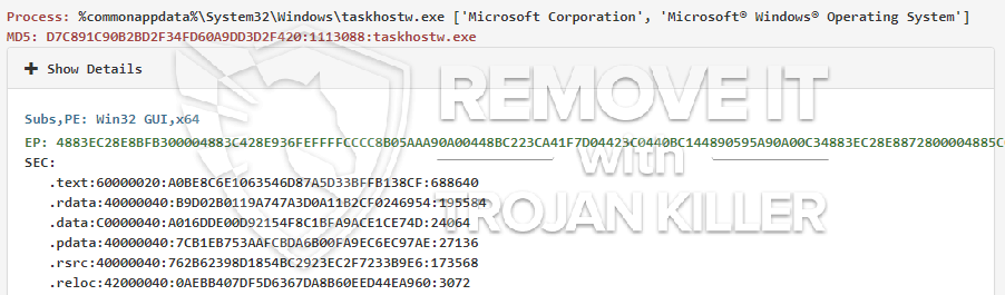 remove taskhostw.exe virus