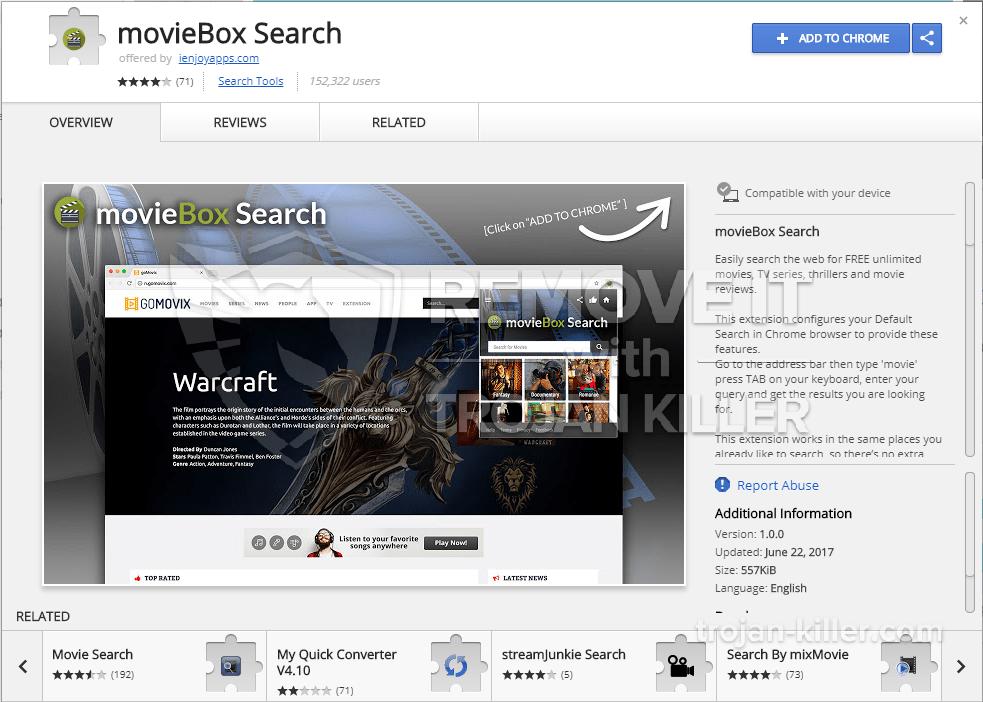 remove movieBox Search virus