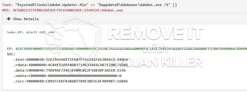remove AdobeL.exe virus