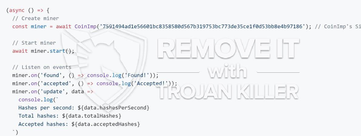 remove CoinImp CPU virus