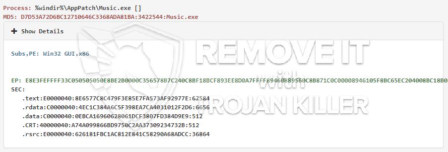 remove Music.exe virus
