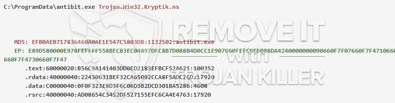 remove antibit.exe virus