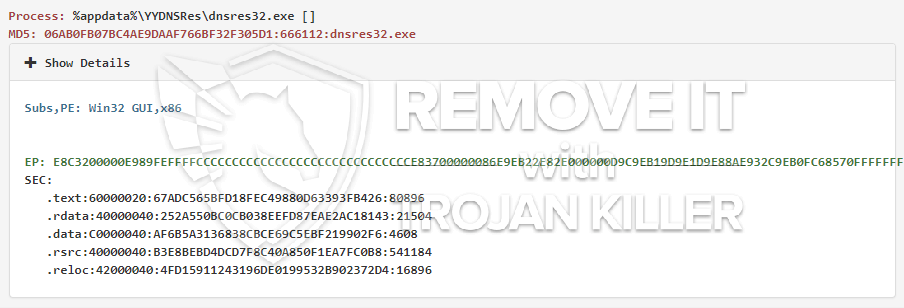 remove dnsres32.exe virus