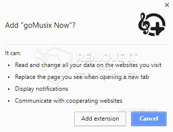 remove goMusix Now virus