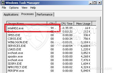 remove intelHD2.exe virus
