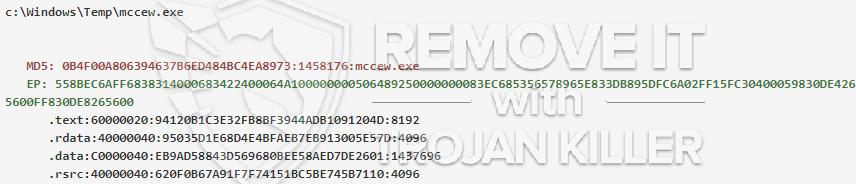 remove mccew.exe virus