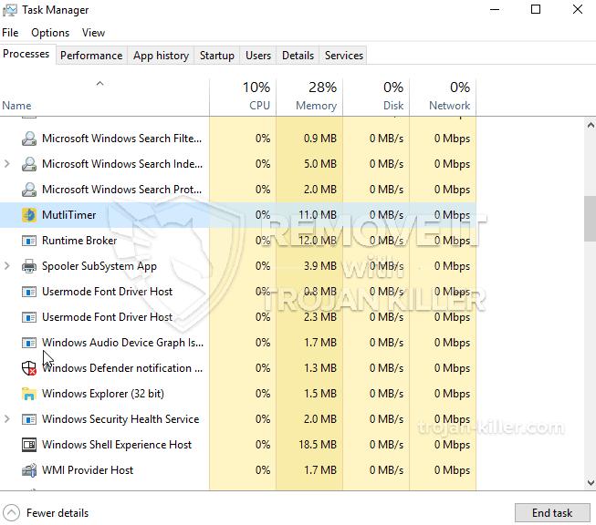 remove MultiTimer.exe virus