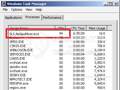 remove SLS_NsGpuMiner.exe virus
