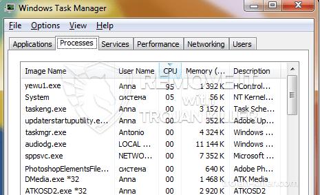 remove yewu1.exe virus