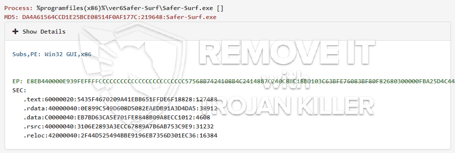 remove Safer-Surf.exe virus